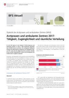 Statistik der Arztpraxen und ambulanten Zentren (MAS
