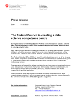 The Federal Council is creating a data science competence centre