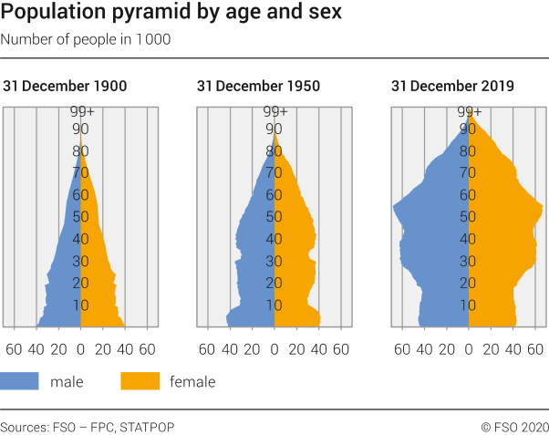 Population pyramid by age and sex