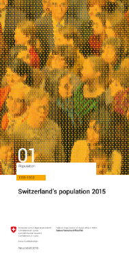 Switzerland's population 2015