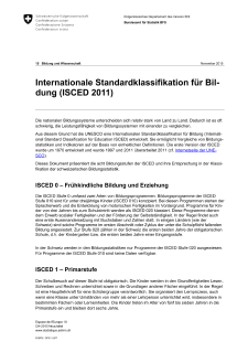 International Standard Classification of Education (ISCED 2011)