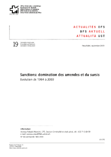 Sanctions: domination des amendes et du sursis