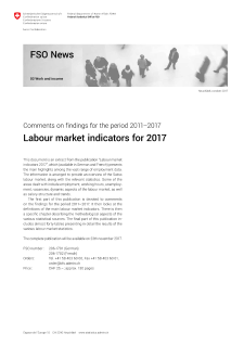 Labour market indicators for 2017. Comments on findings for the period 2011-2017