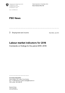 Labour market indicators for 2016. Comments on findings for the period 2010-2016