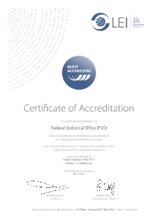 Certificat of Accreditation (GLEIF)