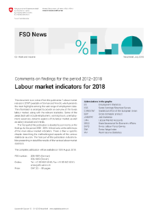 Labour market indicators for 2018. Comments on findings for the period 2012-2018
