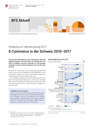 E-Commerce in der Schweiz 2010-2017 - Erhebung zur Internetnutzung 2017   Publikation