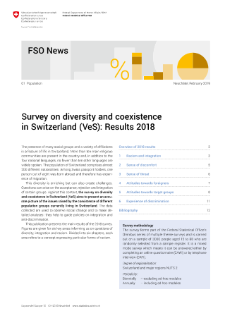Survey on diversity and coexistence in Switzerland (VeS): Results 2018