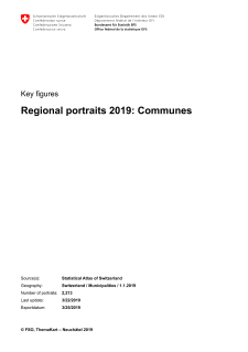 Regional portraits 2019: communes
