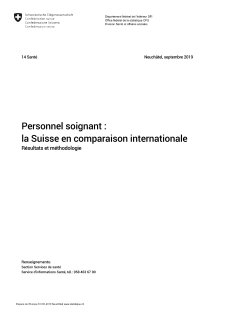 Personnel soignant : la Suisse en comparaison internationale