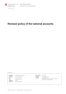 Revision policy of the national accounts