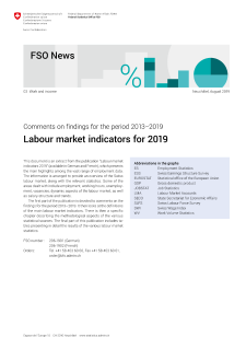 Labour market indicators for 2019. Comments on findings for the period 2013-2019