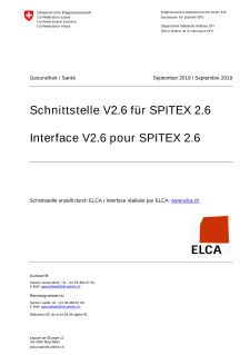 Schnittstelle Spitex Version 2.6
